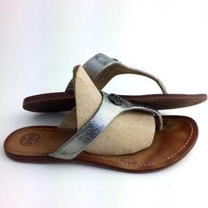 Tory Burch Grey Sandals Size 9M